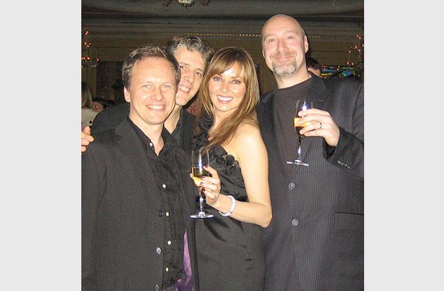 At the Radio Times awards at Claridges with Carol Vorderman