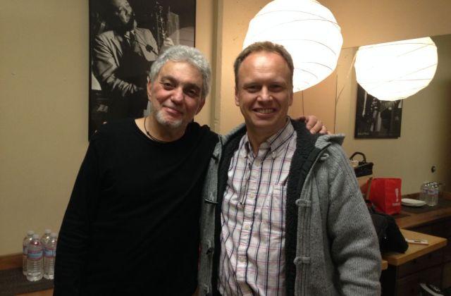 Jeff Lardner with drumming legend Steve Gadd