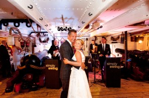 HMS Warrior Weddings with Simply Swing Band