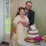 Cutting the cake at Bush Hotel, Farnham