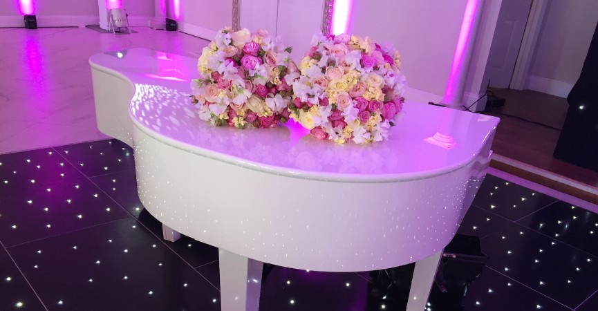 Piano Shell With Flowers